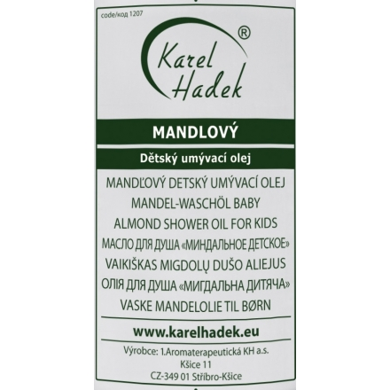 Karel Hadek MANDLOVÝ mycí olej dětský 200 ml